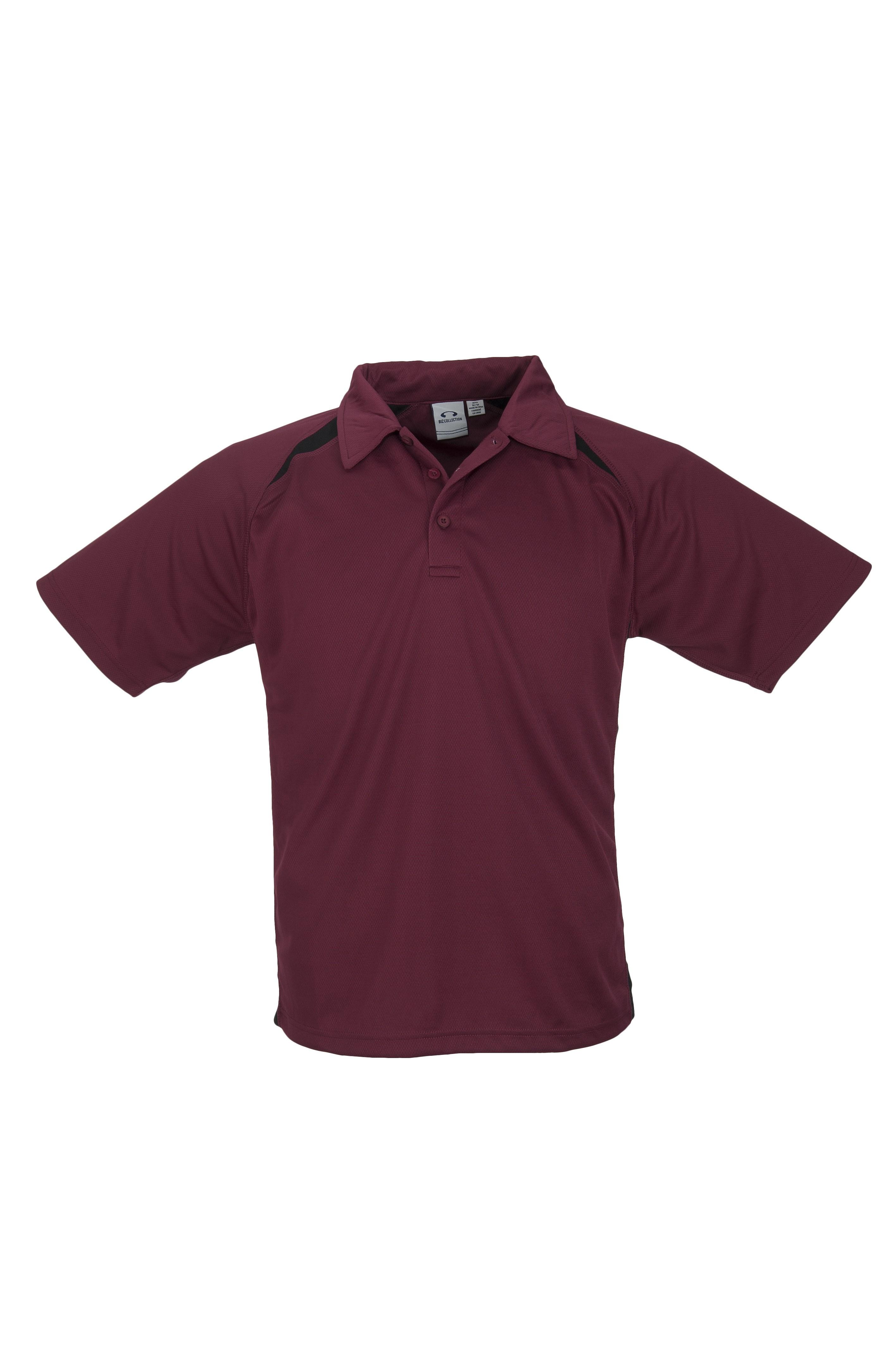 Splice mens golf shirt maroon only biz 3610 m for Name brand golf shirts direct