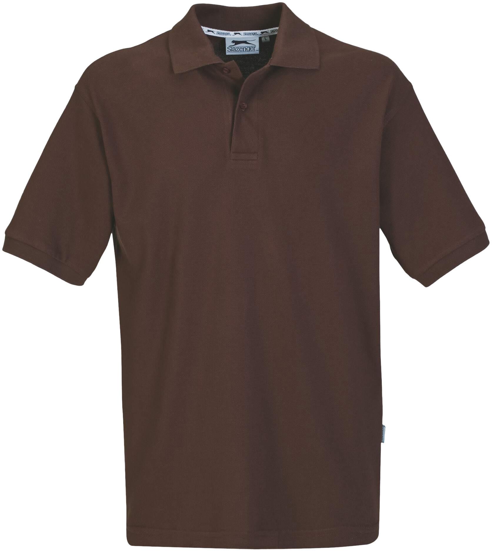 Crest mens golf shirt brown only slaz 803 bn for Name brand golf shirts direct