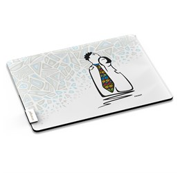 Andy Cartwright Mr and Mrs Smarty Pants Glass Serving Board