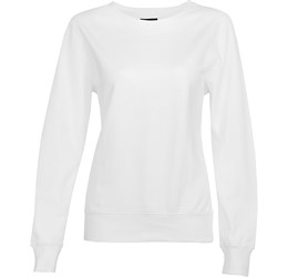 Ladies Alpha Sweater White Only