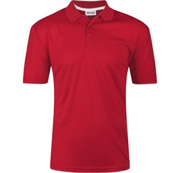 Golfers - Mens Bayside Golf Shirt  Red Only