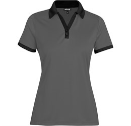 Golfers - Ladies Bridgewater Golf Shirt  Black Only