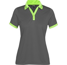 Golfers - Ladies Bridgewater Golf Shirt  Lime Only