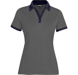 Golfers - Ladies Bridgewater Golf Shirt  Navy Only