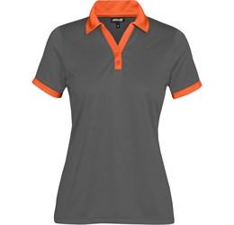 Golfers - Ladies Bridgewater Golf Shirt  Orange Only
