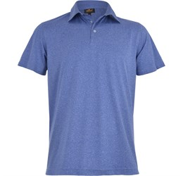 Golfers - Mens Beckham Golf Shirt  Blue Only