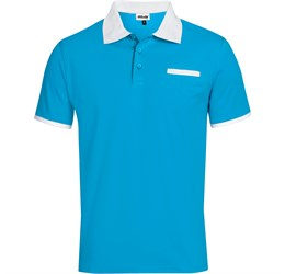 Golfers - Mens Caliber Golf Shirt  Aqua Only