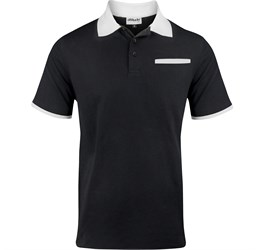 Golfers - Mens Caliber Golf Shirt  Black Only