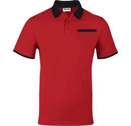 Golfers - Mens Caliber Golf Shirt  Red Only