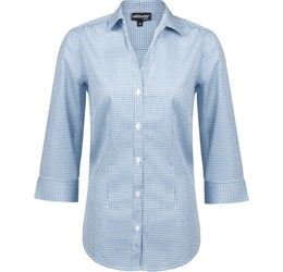 Ladies ¾ Sleeve Edinburgh Shirt  Blue Only