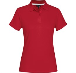 Golfers - Ladies Bayside Golf Shirt  Red Only