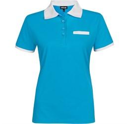 Golfers - Ladies Caliber Golf Shirt  Aqua Only