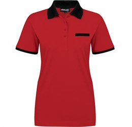 Golfers - Ladies Caliber Golf Shirt  Red Only