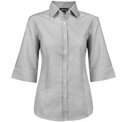 Ladies 3/4 Sleeve Earl Shirt  Grey Only