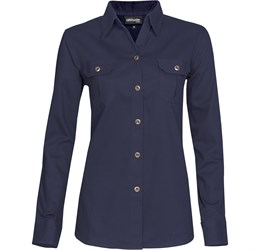 Ladies Long Sleeve Oryx Bush Shirt  Navy Only