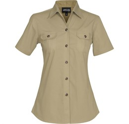 Ladies Short Sleeve Oryx Bush Shirt  Stone Only