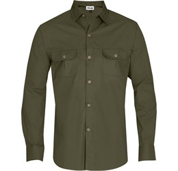 Mens Long Sleeve Oryx Bush Shirt  Military Green Only