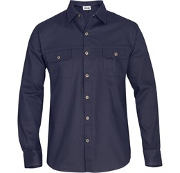 Mens Long Sleeve Oryx Bush Shirt  Navy Only