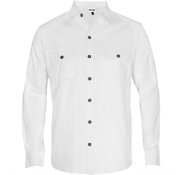 Mens Long Sleeve Oryx Bush Shirt White Only