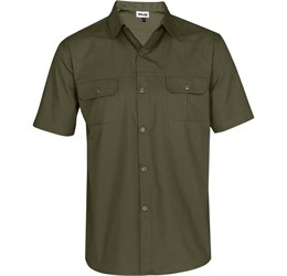 Mens Short Sleeve Oryx Bush Shirt  Military Green Only