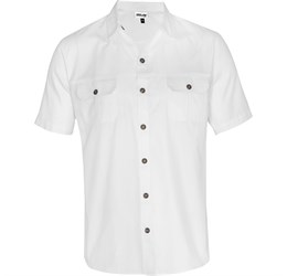 Mens Short Sleeve Oryx Bush Shirt White Only