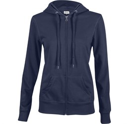 Ladies Stanford Hooded Sweater  Navy Only