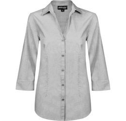 Ladies ¾ Sleeve Viscount Shirt  Grey Only