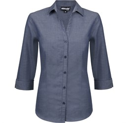Ladies ¾ Sleeve Viscount Shirt  Navy Only