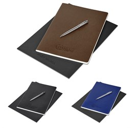 Alex Varga Large Soft Cover Notebook and Pen Set