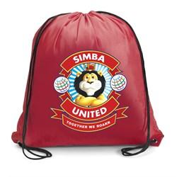 Sonar Mini 190T Drawstring Bag  Red Only