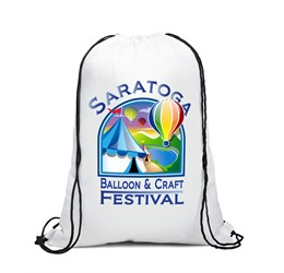 Condor 210D Drawstring Bag  Solid White Only
