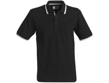 US Basic Mens City Golf Shirt in black Code BAS-2100
