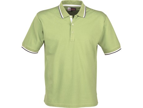 US Basic Mens City Golf Shirt in Lime Code BAS-2100