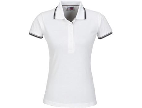 US Basic Ladies City Golf Shirt in White Code BAS-2103