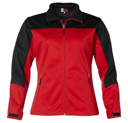Ladies Attica Softshell Jacket  Red Only