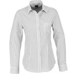 Ladies Long Sleeve Aston Shirt  White Only