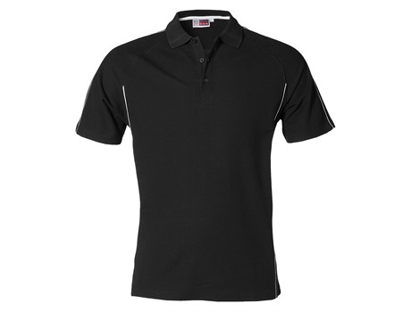US Basic Mens Pontiac Golf Shirt in black Code BAS-3426
