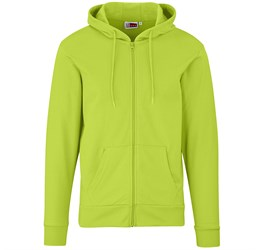 Mens Bravo Hooded Sweater  Lime Only