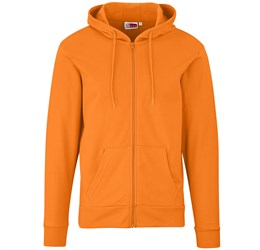 Mens Bravo Hooded Sweater  Orange Only
