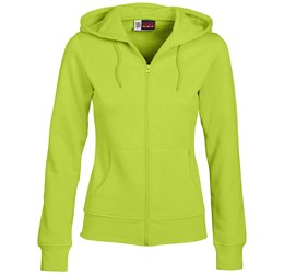 Ladies Bravo Hooded Sweater  Lime Only