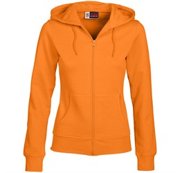 Ladies Bravo Hooded Sweater  Orange Only