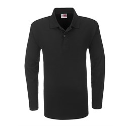 Golfers - Mens Long Sleeve Boston Golf Shirt  Black Only