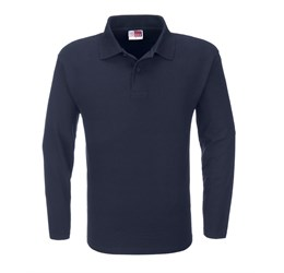 Golfers - Mens Long Sleeve Boston Golf Shirt  Navy Only