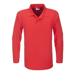 Golfers - Mens Long Sleeve Boston Golf Shirt  Red Only