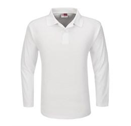 Golfers - Mens Long Sleeve Boston Golf Shirt  White Only