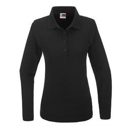 Golfers - Ladies Long Sleeve Boston Golf Shirt  Black Only