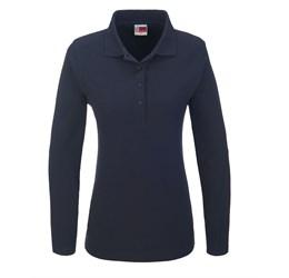 Golfers - Ladies Long Sleeve Boston Golf Shirt  Navy Only