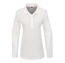 Golfers - Ladies Long Sleeve Boston Golf Shirt White Only