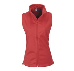 Ladies Cromwell Softshell Bodywarmer  Red Only