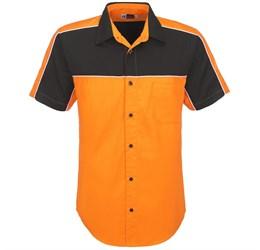 Mens Daytona Pitt Shirt  Orange Only